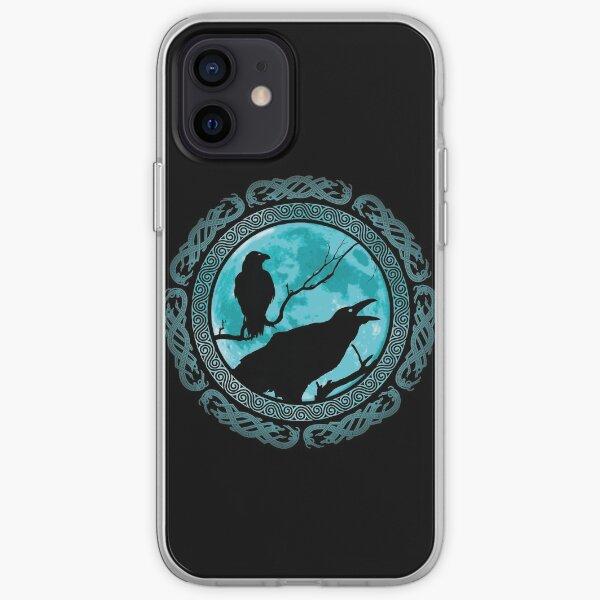 Hugin Munin Odins Ravens iPhone Soft Case