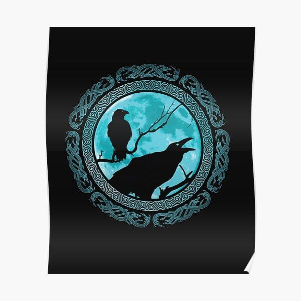 Hugin Munin Odins Raben Poster