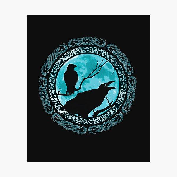 Hugin Munin Odins Ravens Photographic Print