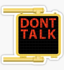 "New York Crosswalk Sign Don""t Talk Sticker"