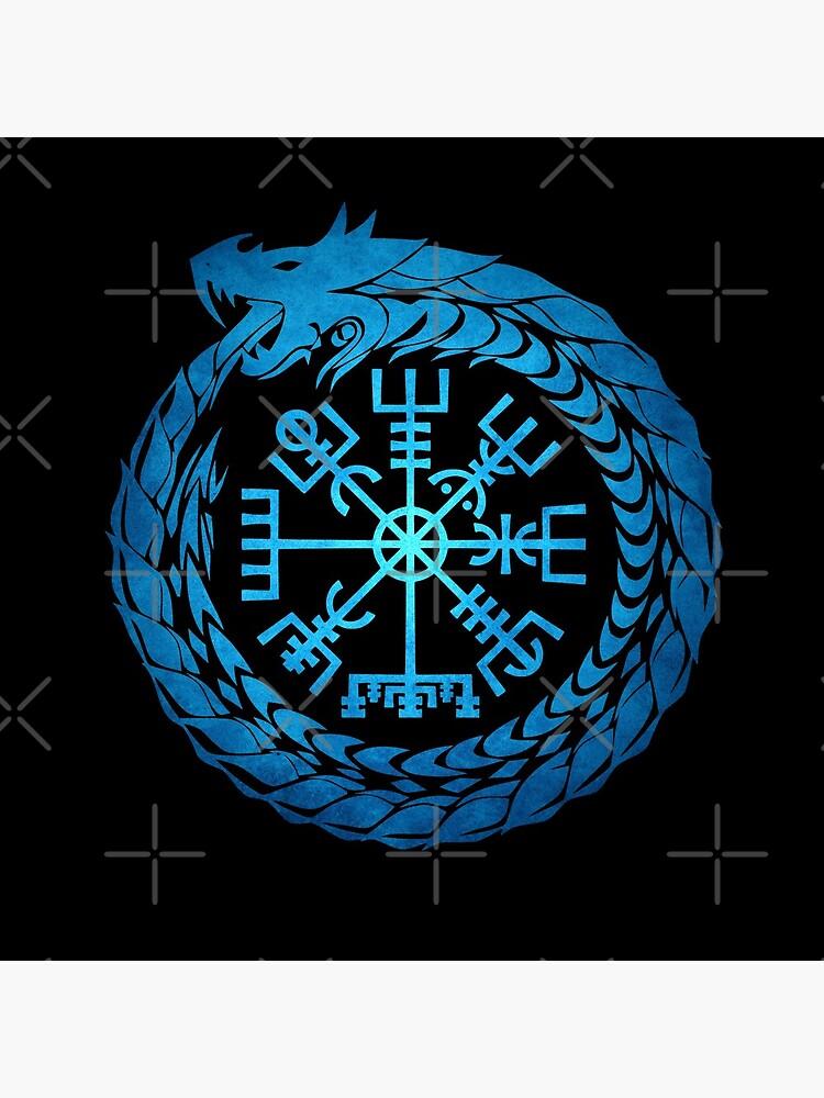 Vegvisir Jormungandr World Serpent  by Beltschazar