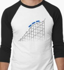 I'm On a Roller Coaster That Only Goes Up (Blue Cars) Men's Baseball ¾ T-Shirt