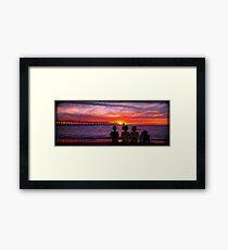 The End - On a beach far far away..... Framed Print
