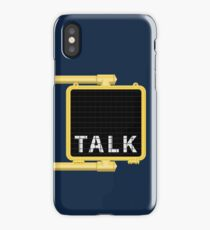 New York Crosswalk Sign Talk iPhone Case/Skin