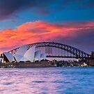 Sydney Harbour Sunset by Mathew Courtney