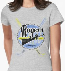 usa new york tshirt by rogers bros co Women's Fitted T-Shirt