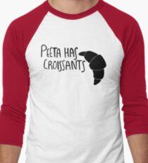 The Baker Has Croissants (Black Design) Men's Baseball ¾ T-Shirt