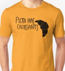 The Baker Has Croissants (Black Design) Unisex T-Shirt