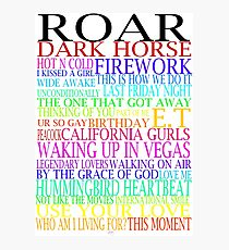 Katy Perry Songs Photographic Print