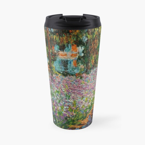 Irises In Monet's Garden At Giverny by Claude Monet Travel Mug
