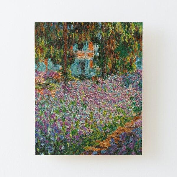 Iris en el jardín de Monet en Giverny por Claude Monet Lámina montada de madera