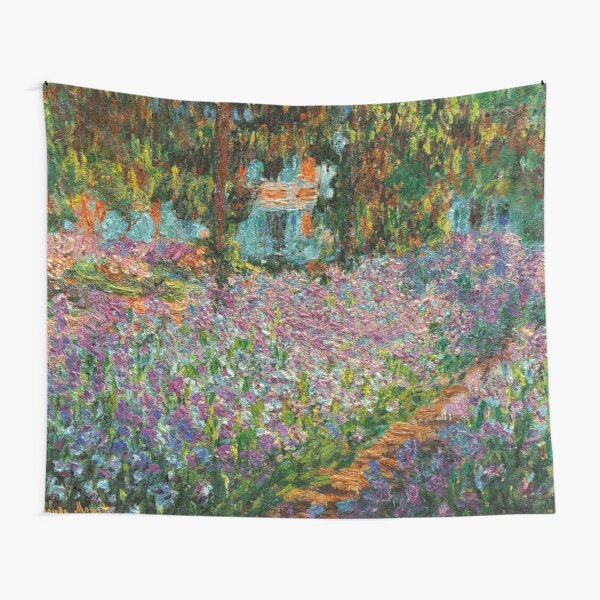Irises In Monet's Garden At Giverny by Claude Monet Tapestry