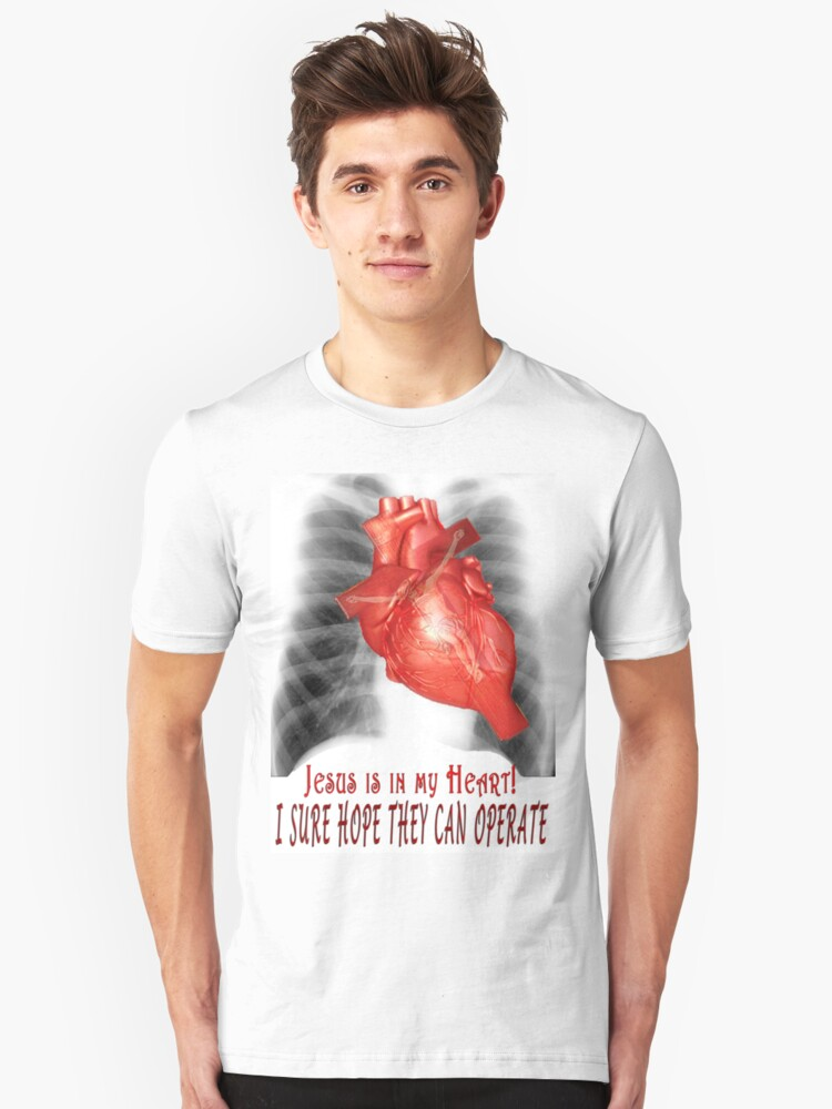 Cardiology for Atheists and other Fundamentalists Unisex T-Shirt Front