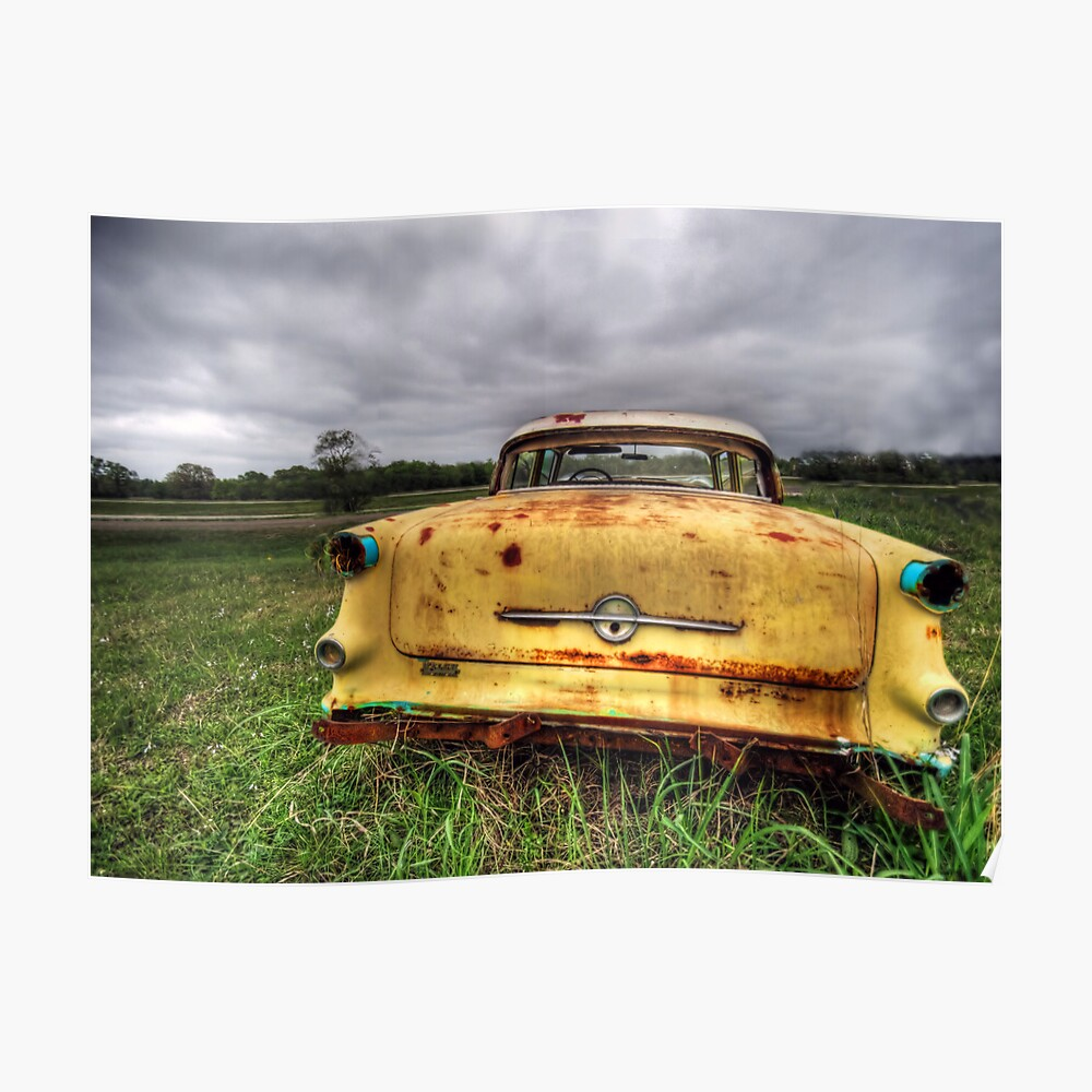 Old Car South Texas 5 Poster