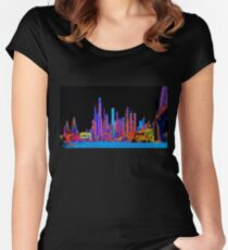 Neon jungle Fitted Scoop T-Shirt