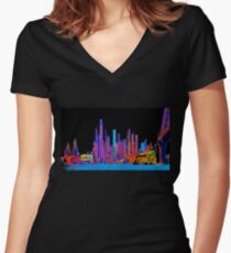 Neon jungle Fitted V-Neck T-Shirt