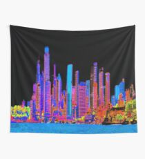 Neon jungle Wall Tapestry