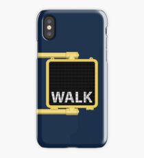 New York Crosswalk Sign Walk iPhone Case/Skin