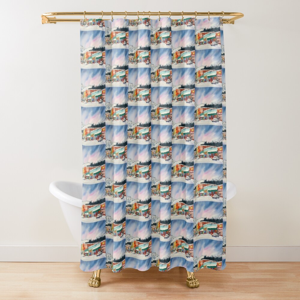 Snowstorm In Truckee Shower Curtain
