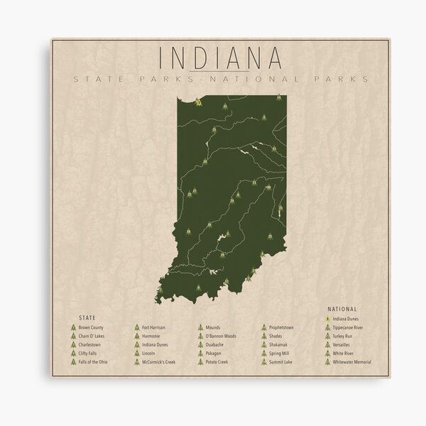 Indiana Parks Canvas Print