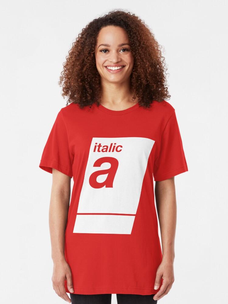 Alternate view of italic white Slim Fit T-Shirt