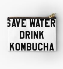 Save Water, Drink Kombucha Trendy/Hipster Meme Studio Pouch