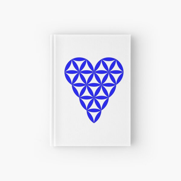 Heart of Life - Vector, Blue colour. Hardcover Journal
