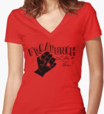 Facepunch: Let's Do This Women's Fitted V-Neck T-Shirt