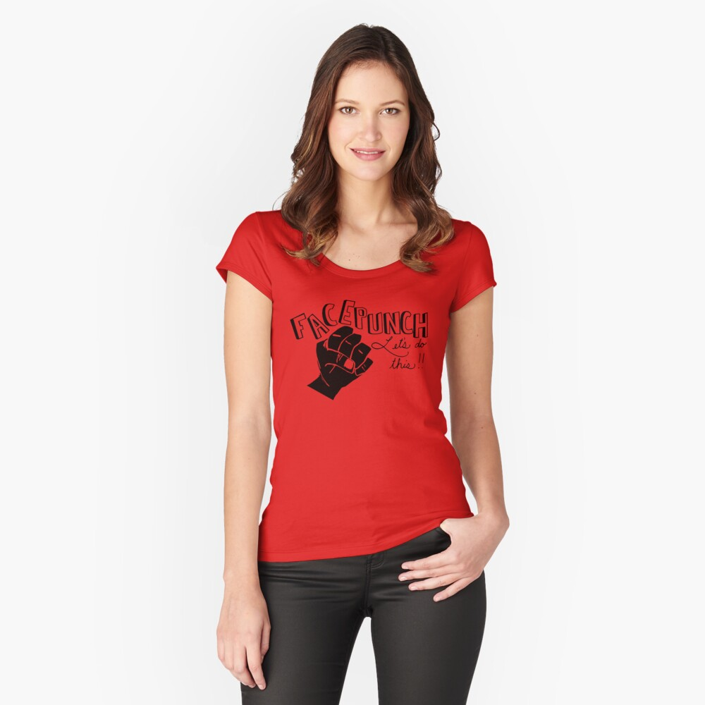 Facepunch: Let's Do This Women's Fitted Scoop T-Shirt Front