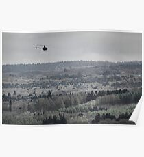 Hobbyist helicopter over the Downs Poster