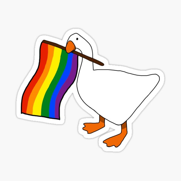 Gay Goose Pride Sticker