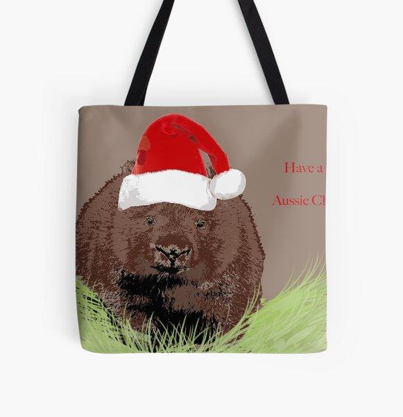 Wombat (Vombatus ursinus) christmas All Over Print Tote Bag