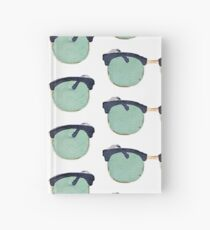 Vintage Sunglasses in Watercolor - Trendy/Summer/Hipster Style Hardcover Journal