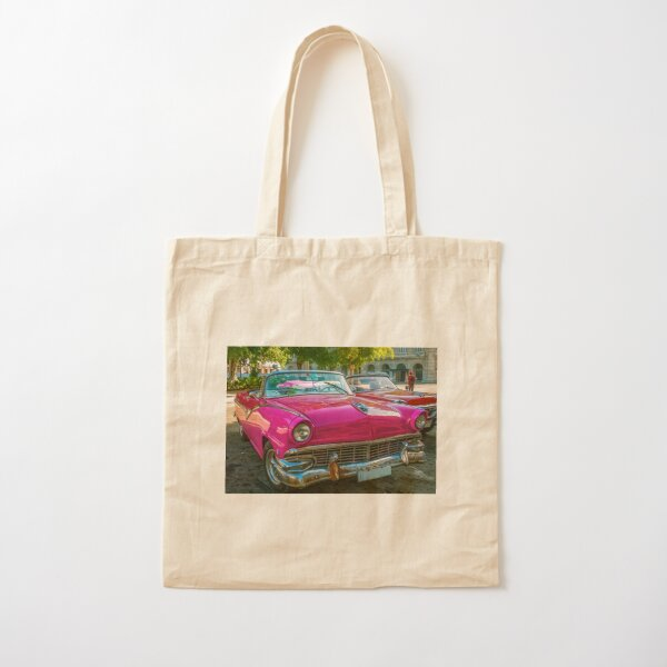 Colorful vintage cars in Cuba Cotton Tote Bag