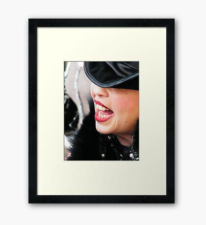 The Laugh Framed Print