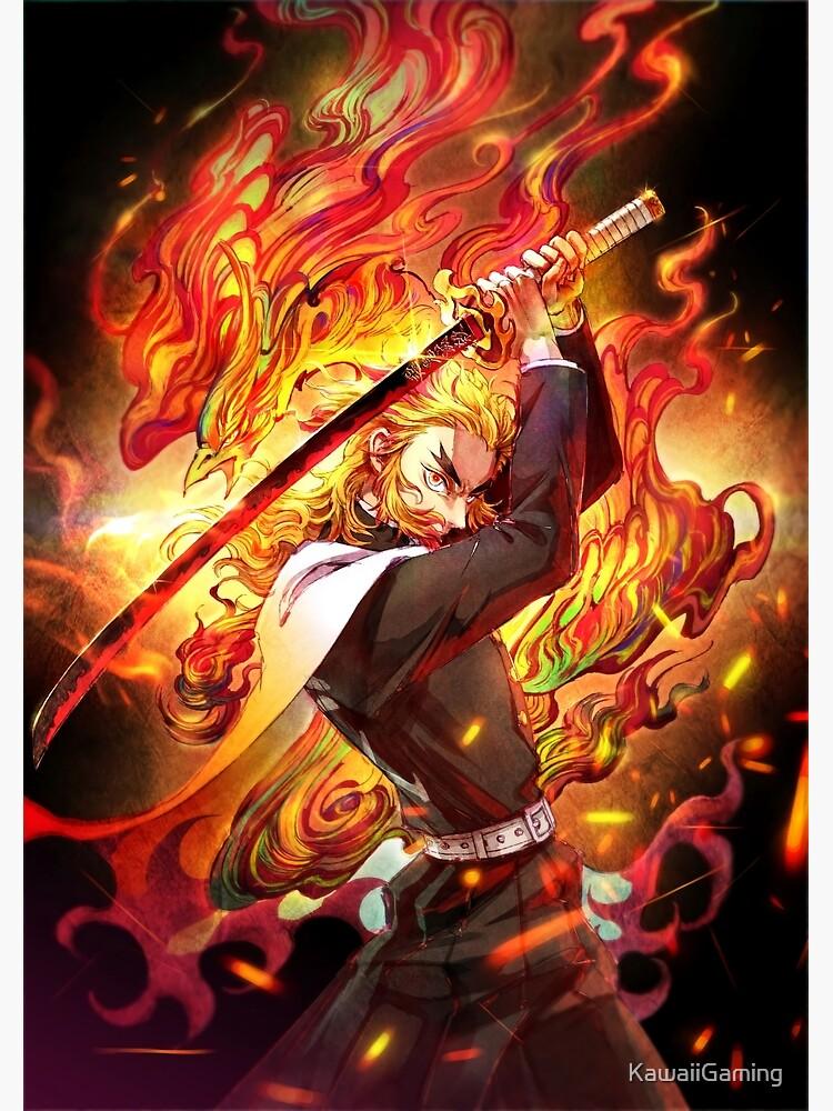 Kyojuro Rengoku - Demon Slayer Kimetsu no Yaiba The flame Kyojuro Rengoku pillar by KawaiiGaming
