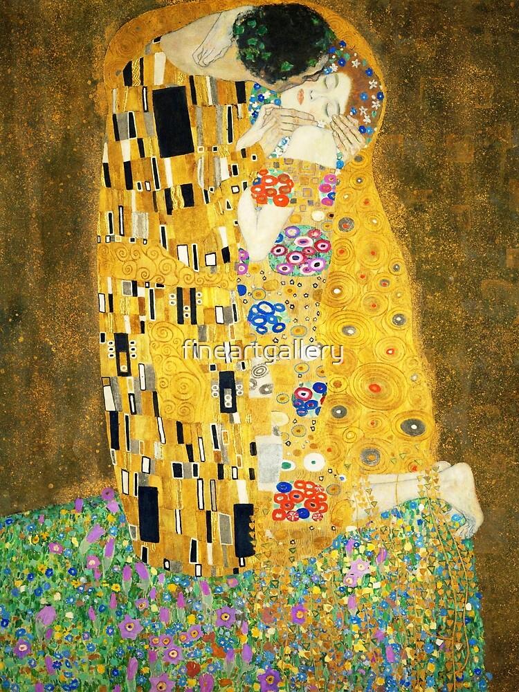 Gustav Klimt The Kiss by fineartgallery