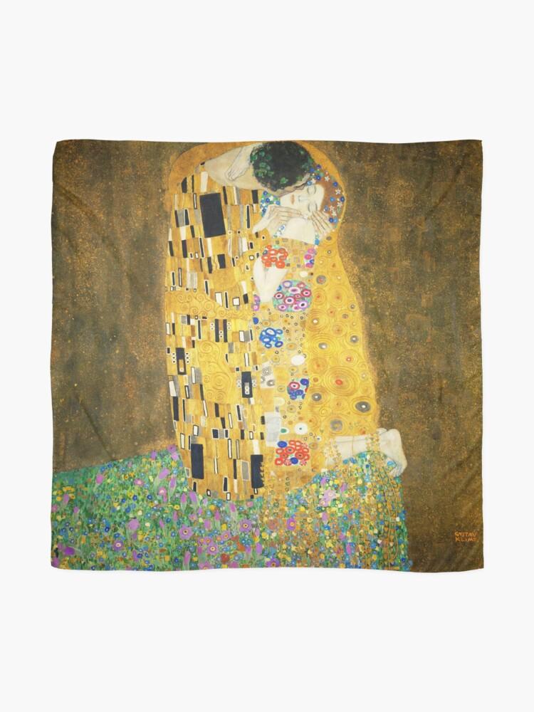 Alternate view of Gustav Klimt The Kiss Scarf