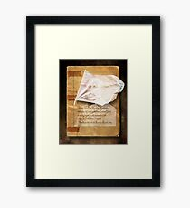 Heritage Diary.  Framed Print