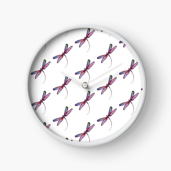 Dragonfly Charm Clock