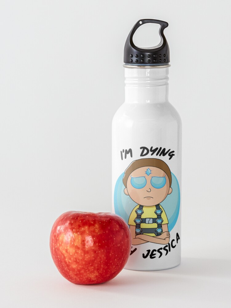 Alternate view of I'm Dying With Jessica (Rick & Morty) Water Bottle