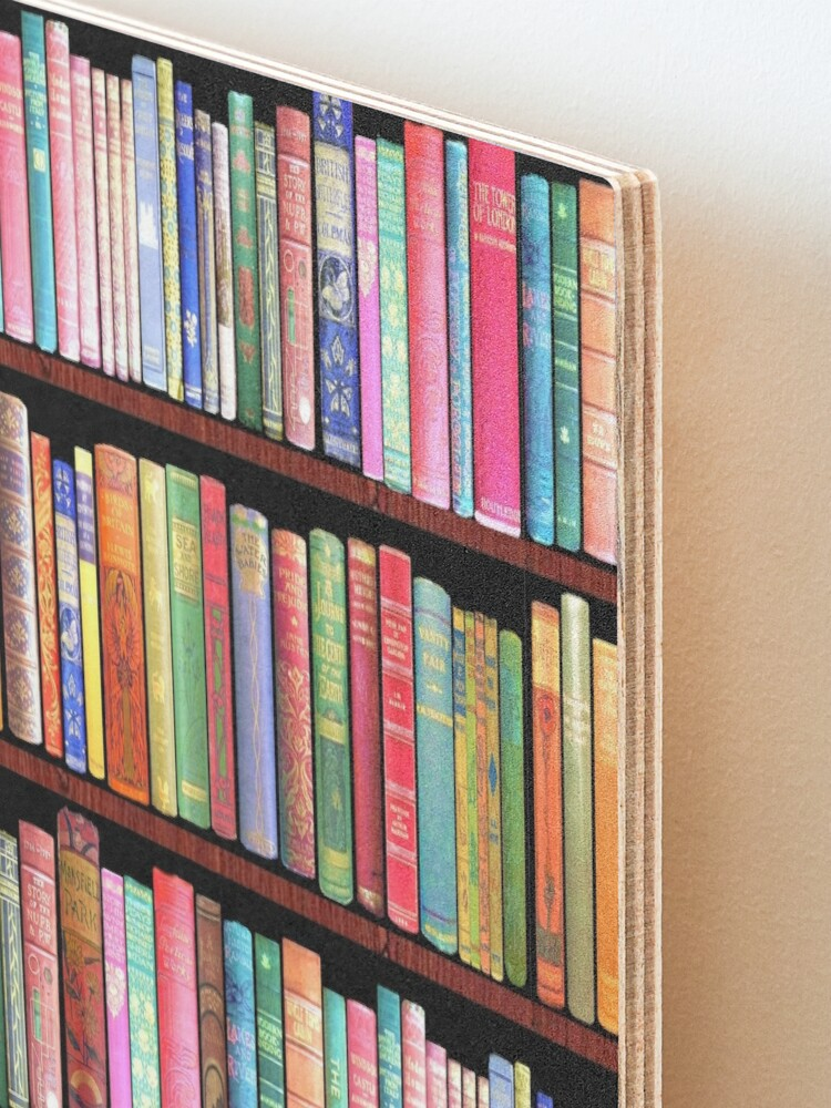 Alternate view of Bookworm Antique books Mounted Print