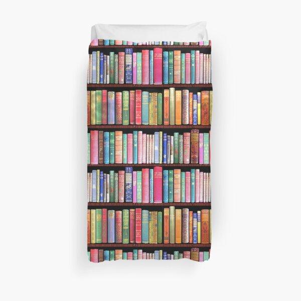 Bookworm Antique books Duvet Cover