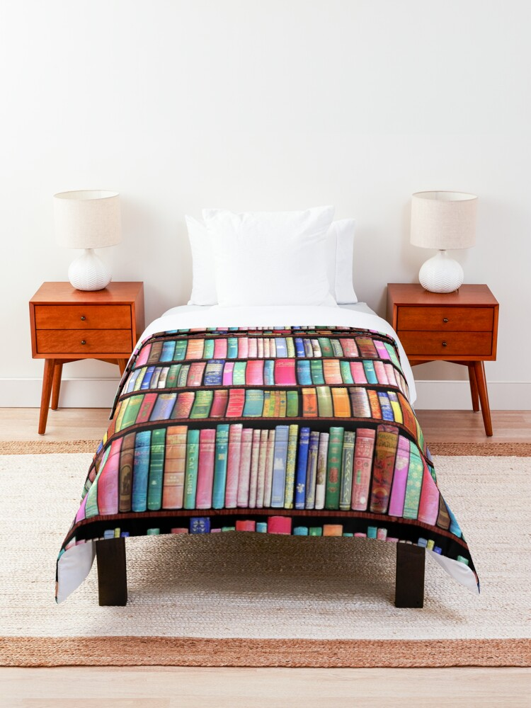 Alternate view of Bookworm Antique books Comforter