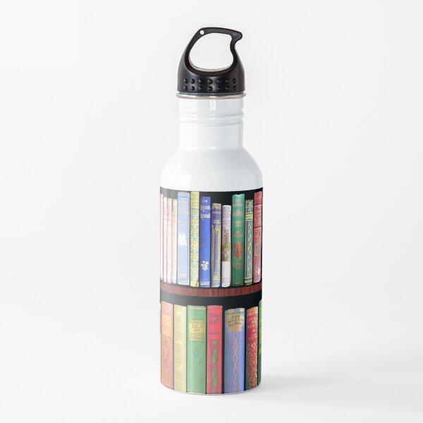 Bookworm Antique books Water Bottle