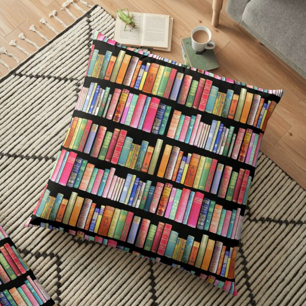 Bookworms Delight / Antique Book Library for Bibliophile Floor Pillow