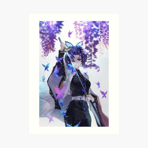 Shinobu Kocho - Demon Slayer Kimetsu no Yaiba Insect Pillar Shinobu Kocho . Art Print