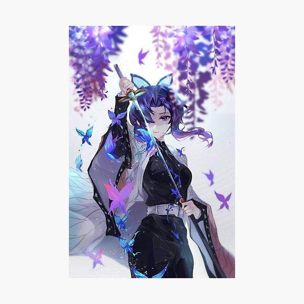 Shinobu Kocho - Demon Slayer Kimetsu no Yaiba Insect Pillar Shinobu Kocho . Photographic Print