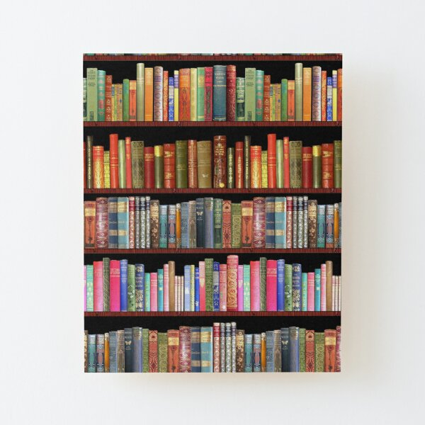 Jane austen antique books, British antique books Wood Mounted Print
