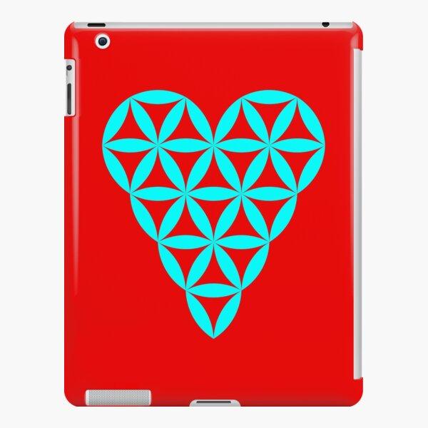 Heart of Life - Vector, Cyan. iPad Snap Case